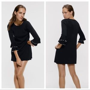 NWT. Zara Black Knit Mini Dress. Size L.